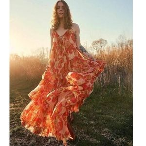 Free People Magnolia Maxi Dress Tiered Floral